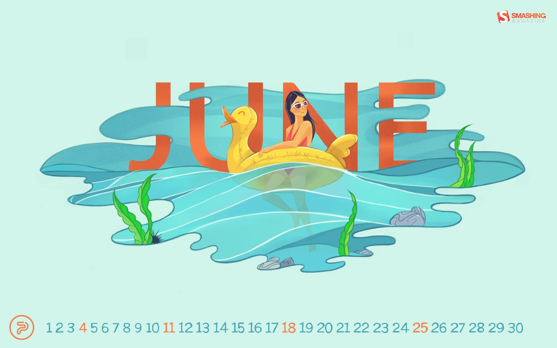 2017 June calendar wallpaper 55492