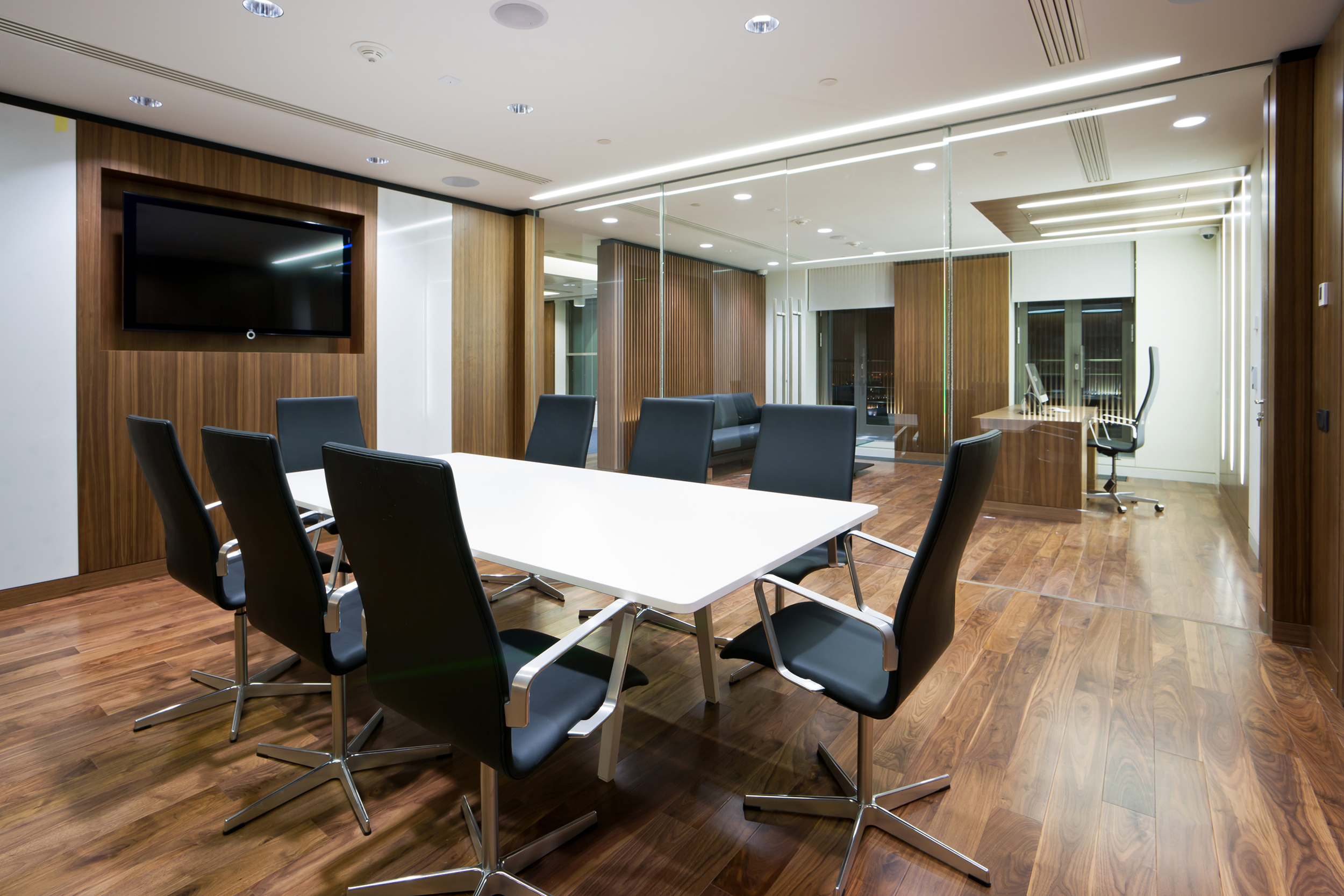 Glass partitioned conference room and office 55499
