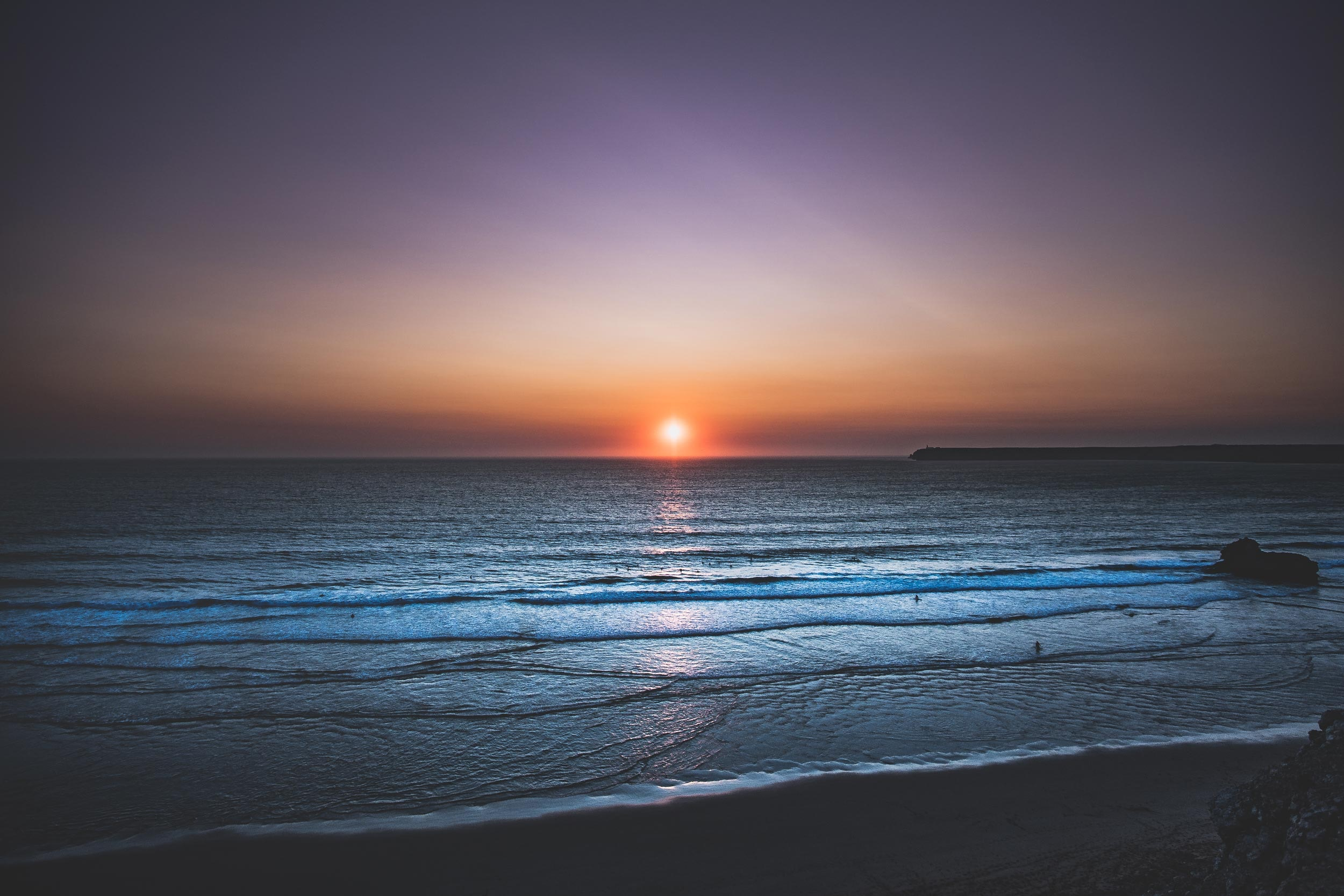 Sunset, the endless sea, 55754