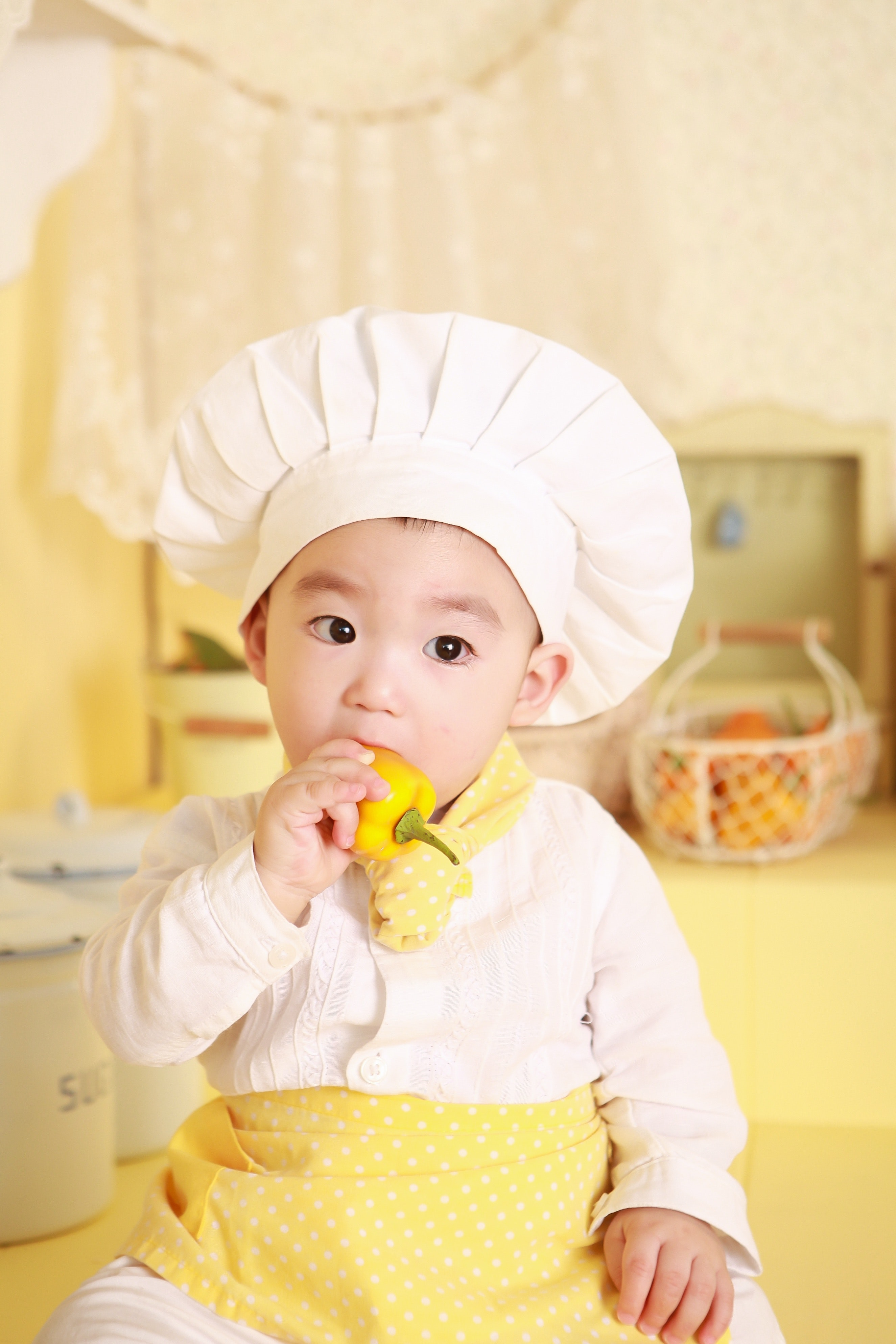 Little boy dressed as chef 55899
