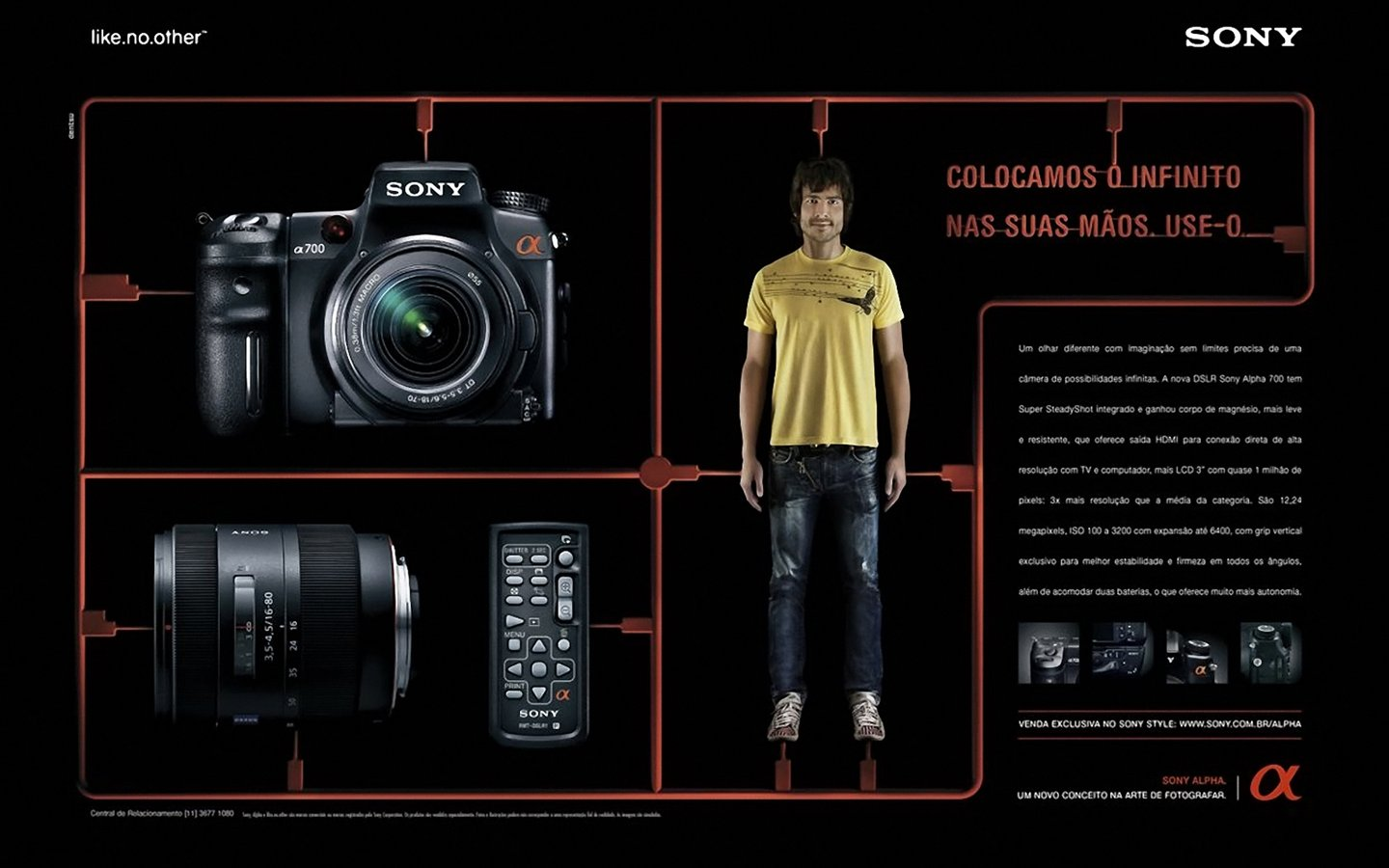 SONY digital camera creative wallpaper 31041