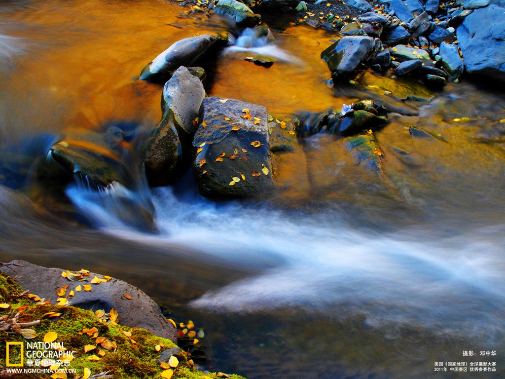 Deng Zhonghua photography autumn mountain streams wallpaper 31216