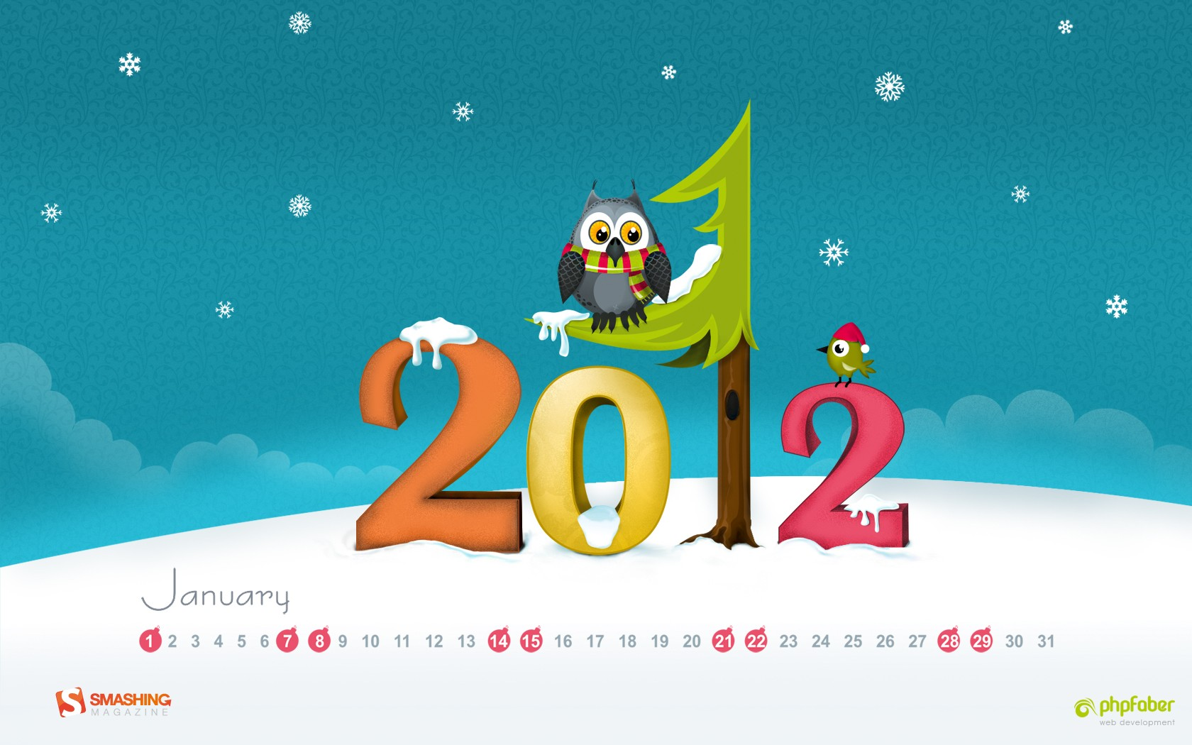 In January Calendar Wallpaper 31322