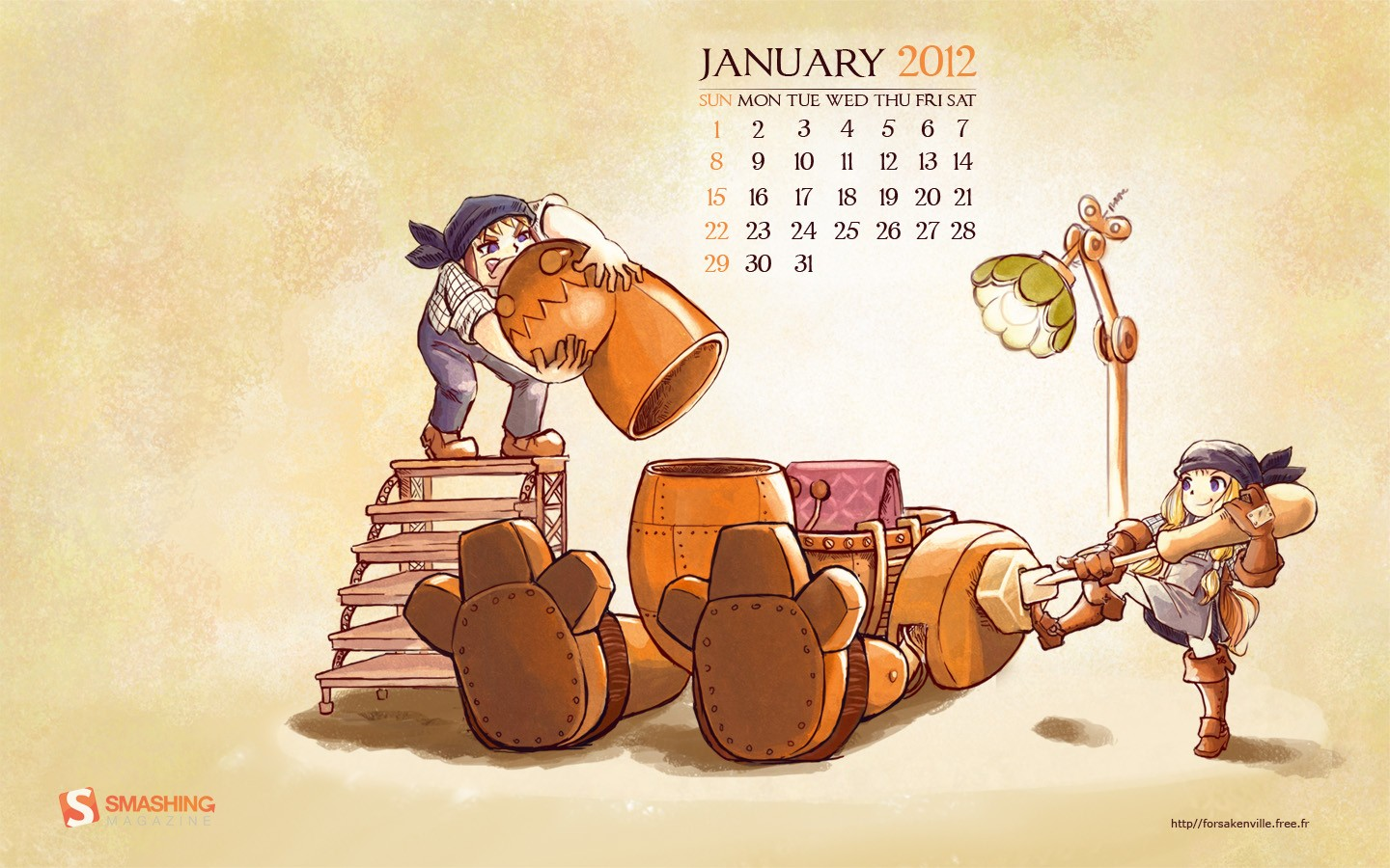 In January Calendar Wallpaper 31342
