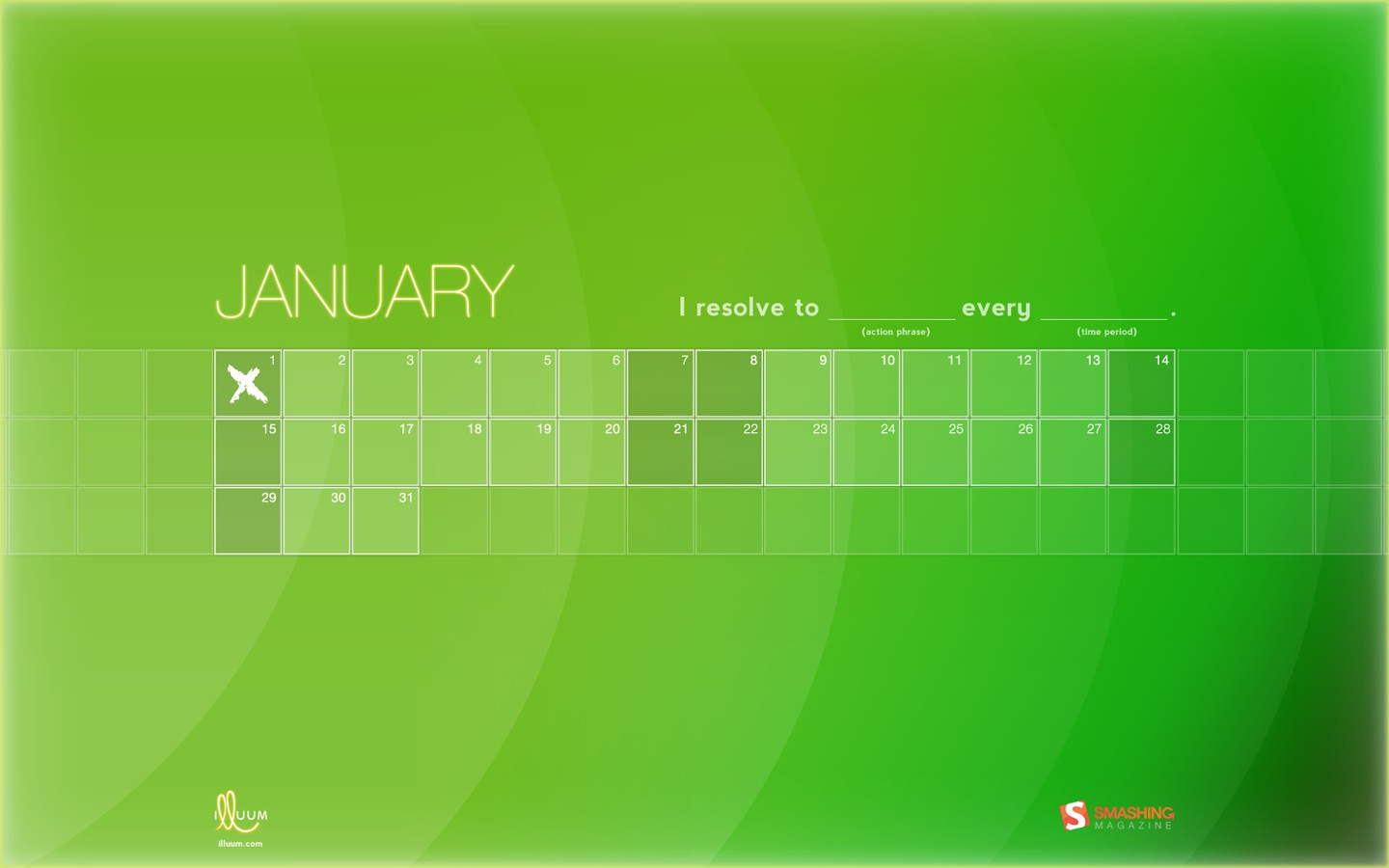 In January Calendar Wallpaper 31355