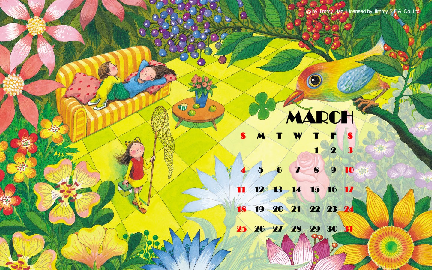 March Calendar illustrator 31381