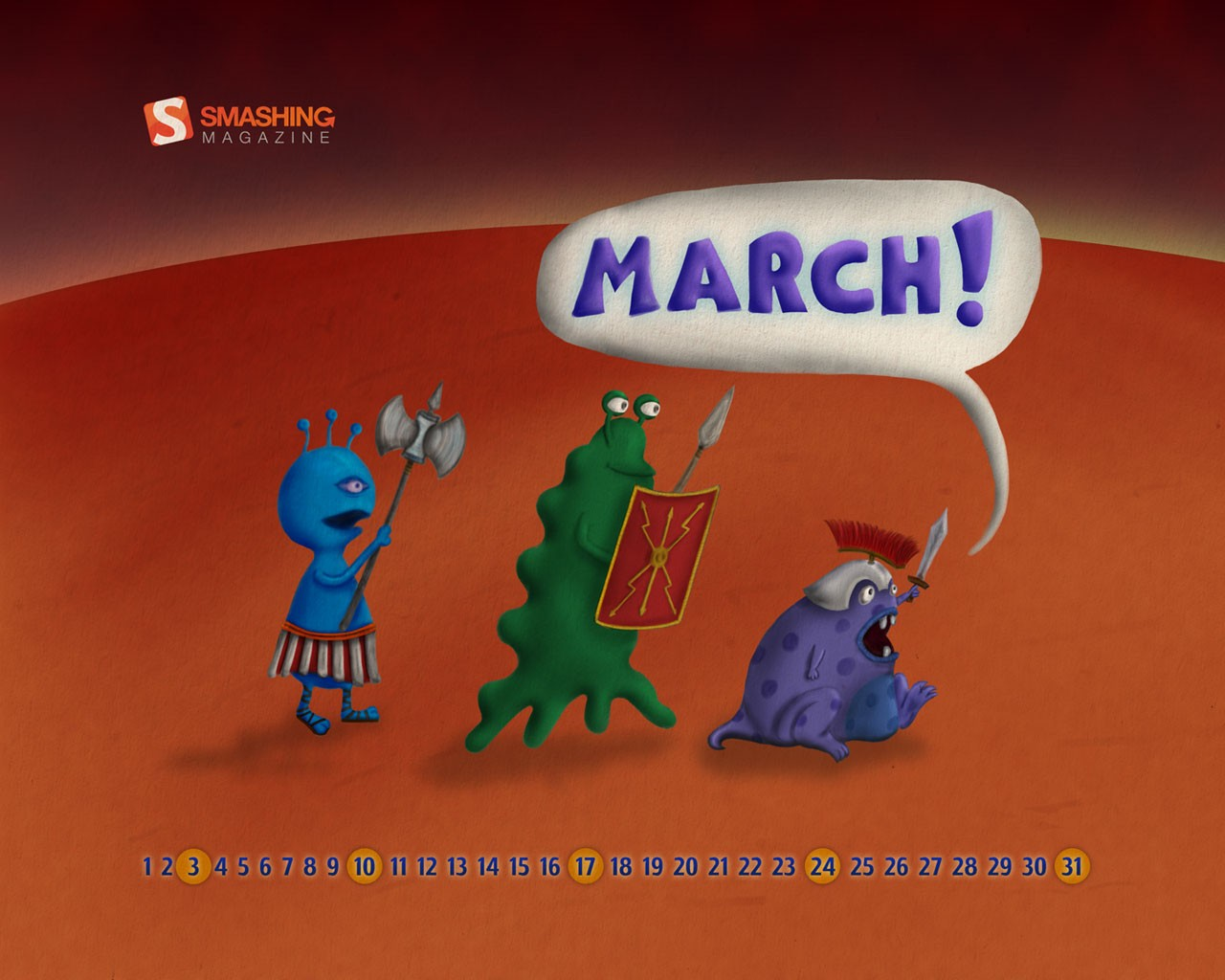 March Calendar illustrator 31389