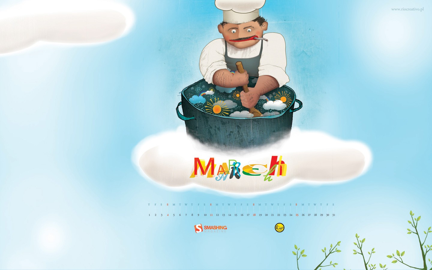 March Calendar illustrator 31390