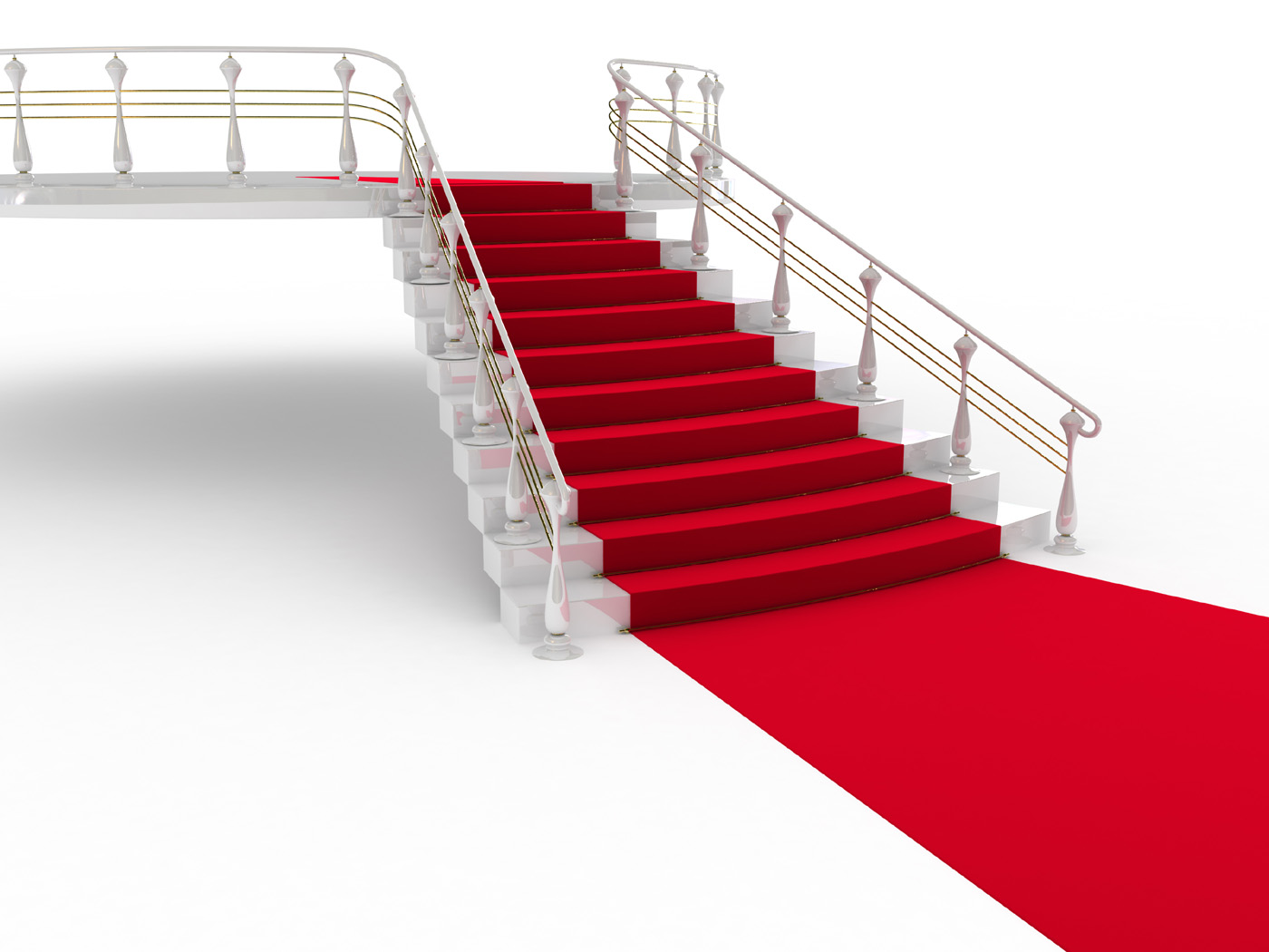 Red carpet ladder 31503