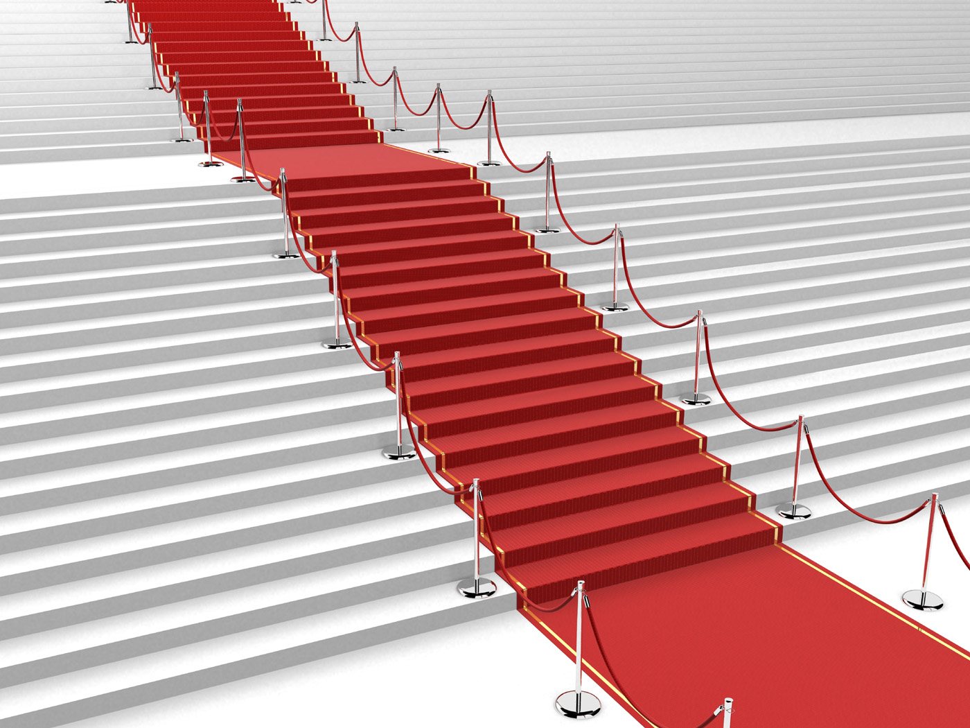 Red carpet ladder 31584