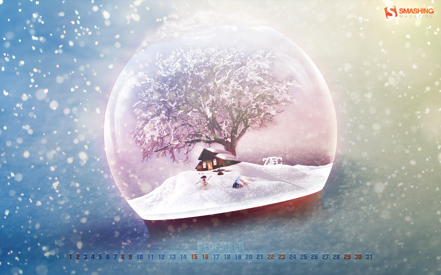 Years Christmas theme Calendar Wallpaper 32048