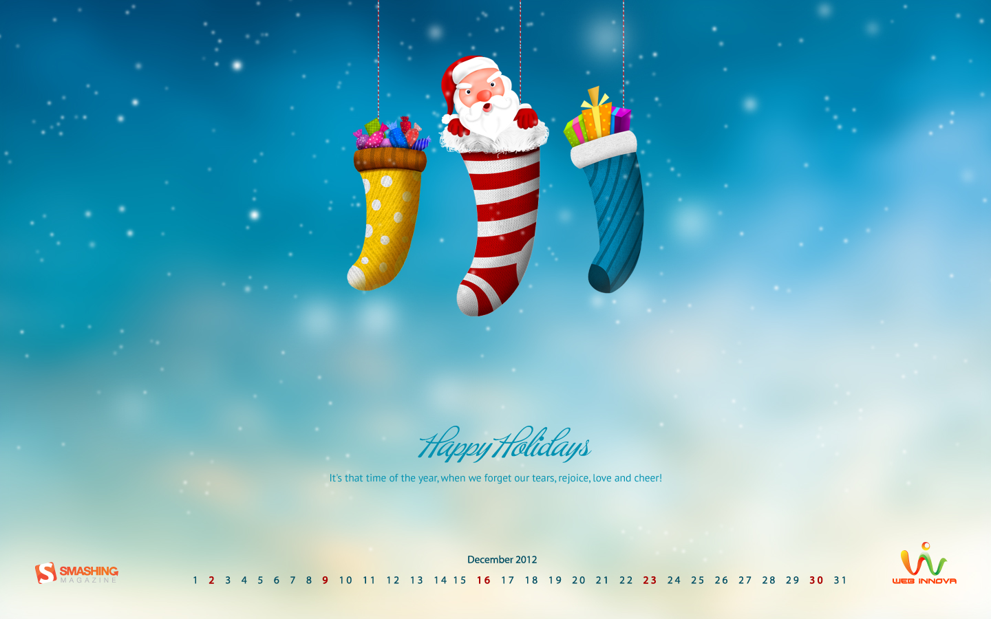 Years Christmas theme Calendar Wallpaper 32049