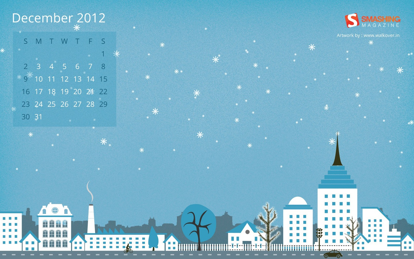 Years Christmas theme Calendar Wallpaper 32058