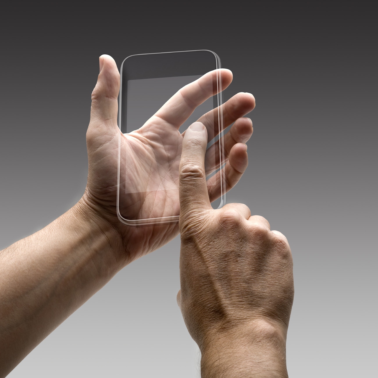 Gestures transparent touch screen phone 32075