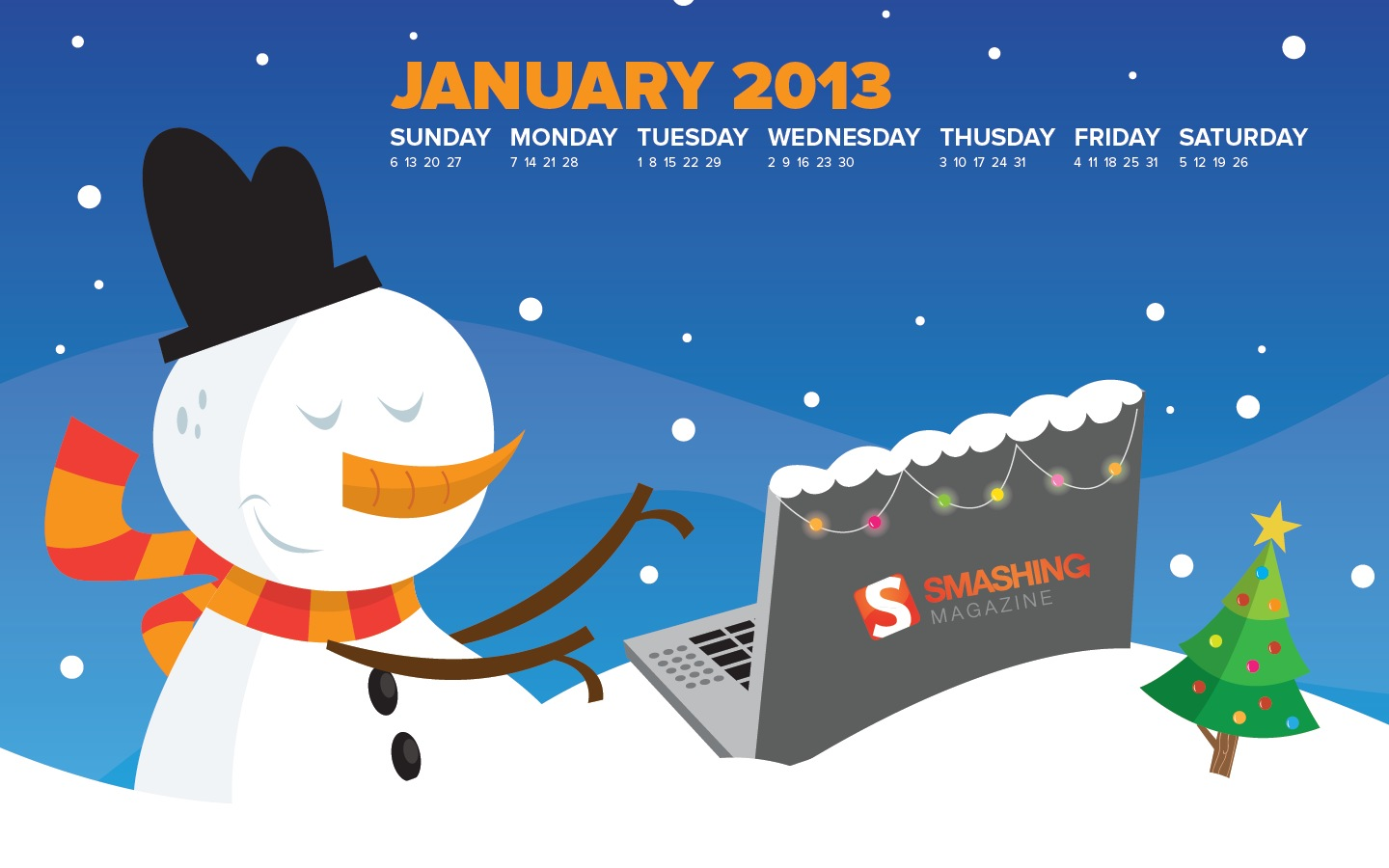 In January Calendar Wallpaper 32102