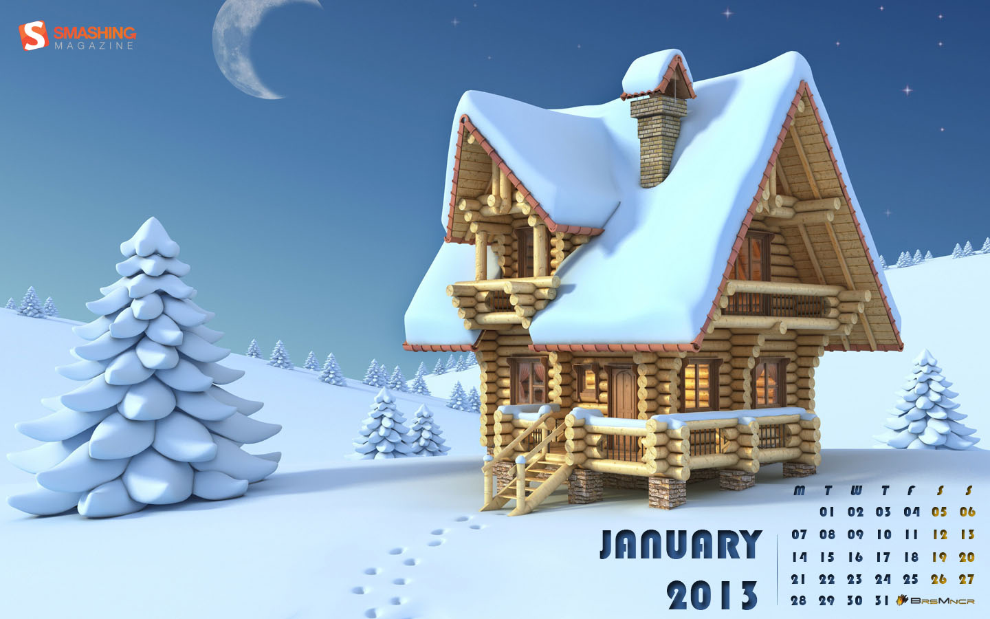 In January Calendar Wallpaper 32112