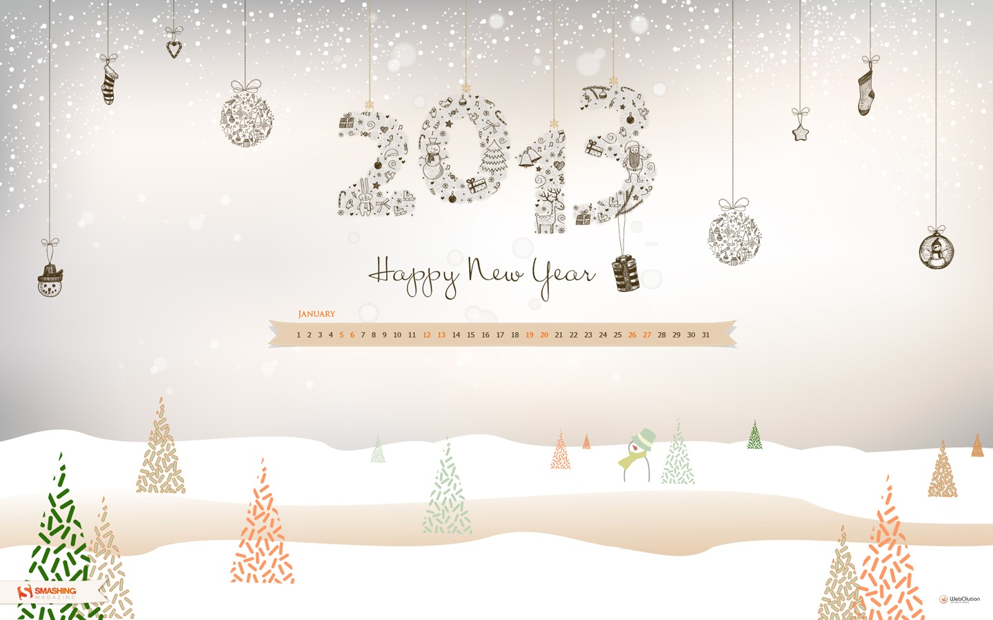 In January Calendar Wallpaper 32124