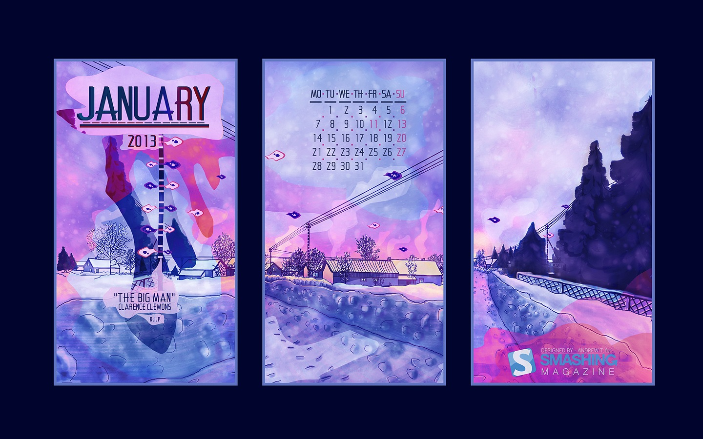 In January Calendar Wallpaper 32134