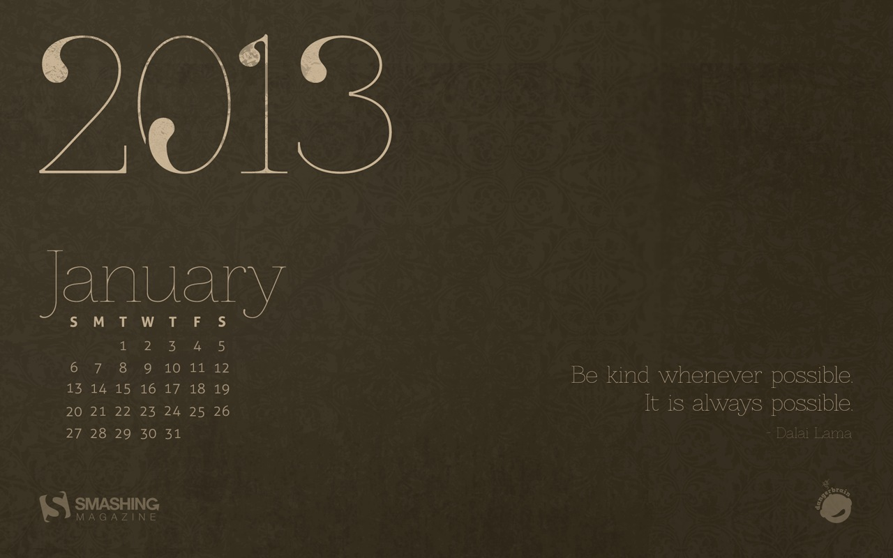 In January Calendar Wallpaper 32137