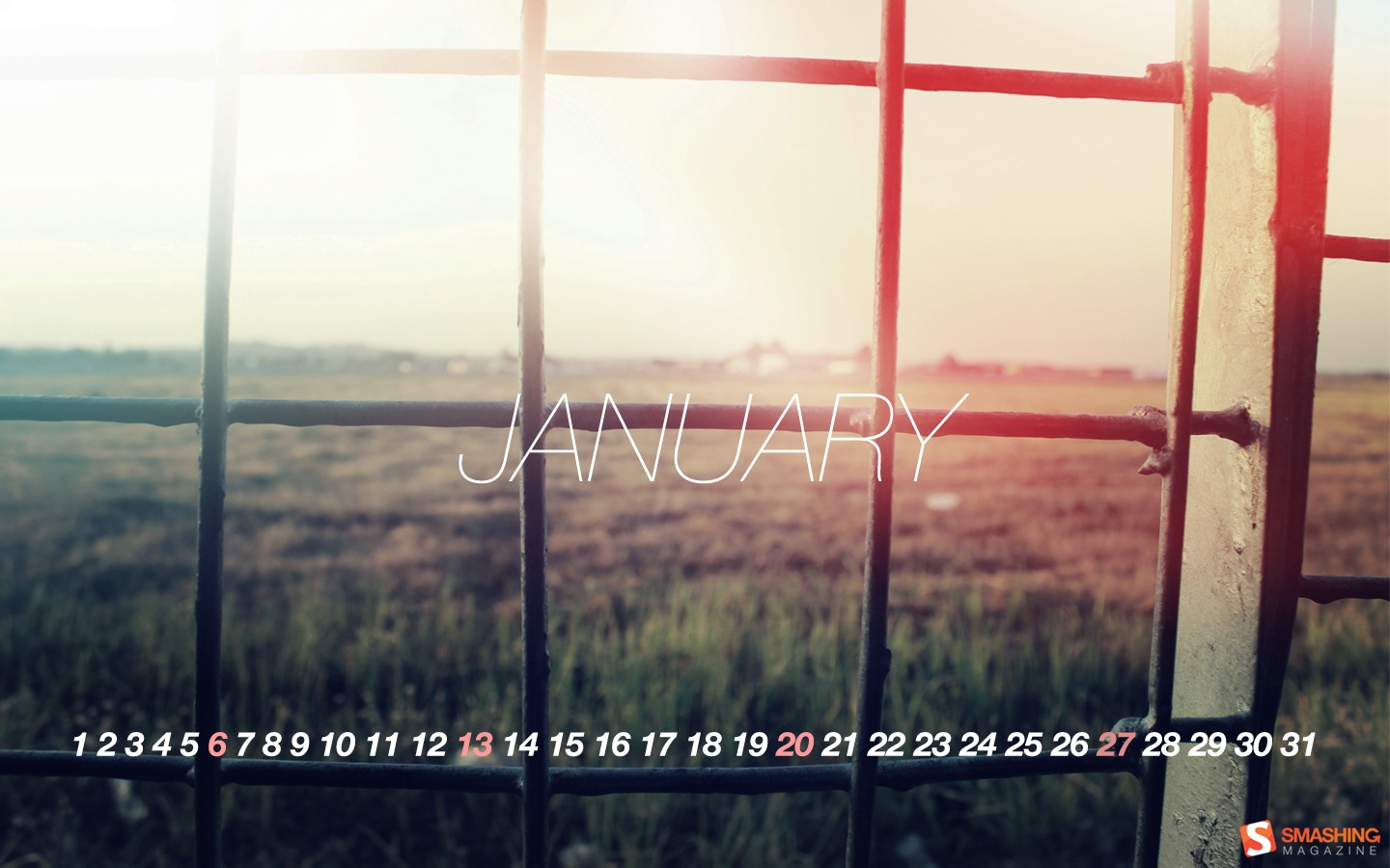 In January Calendar Wallpaper 32143