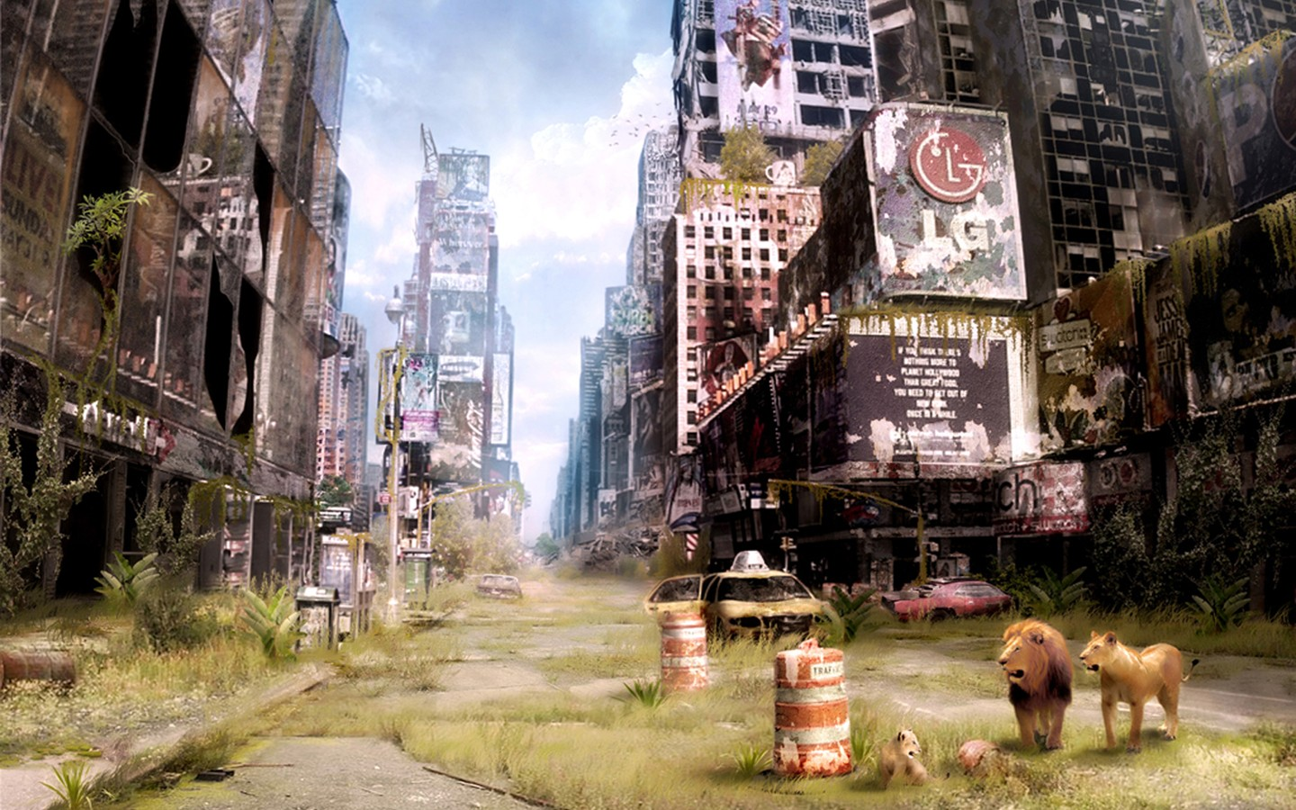 Abandoned Times Square in New York 32202