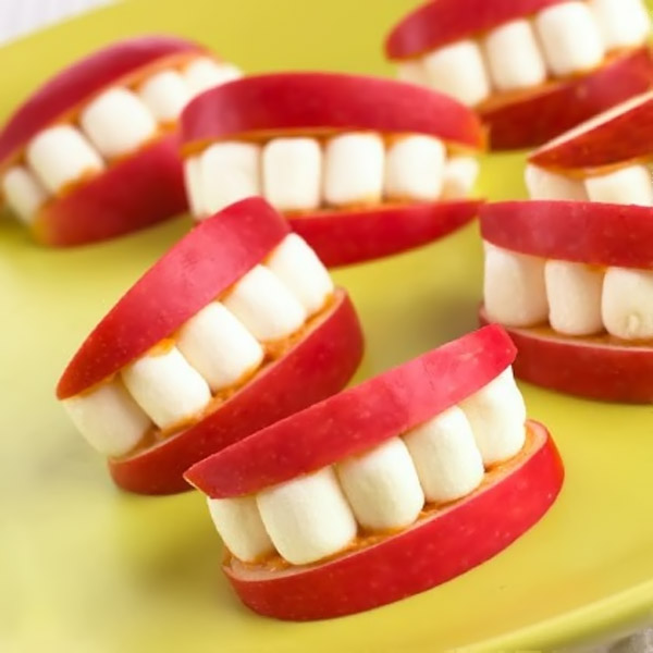 dentures made ​​from fruit 32332