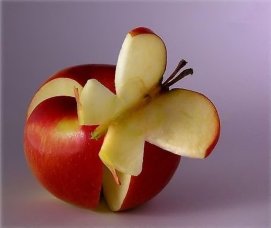 butterfly made from apples 32333