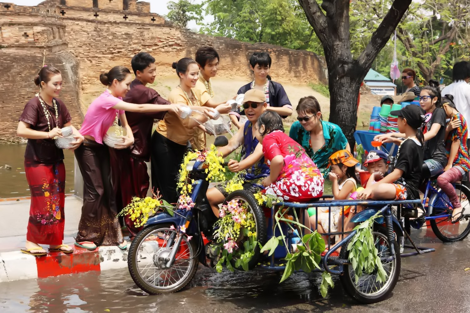 scooping water festival Thailand 32354
