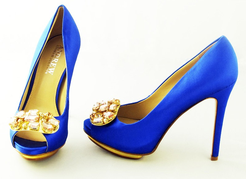 blue satin shoes 32420