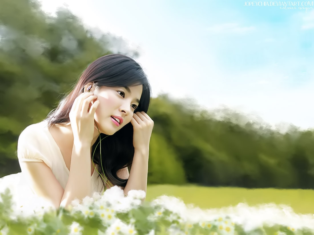 song hye kyo  painting by  jopeychia 32682