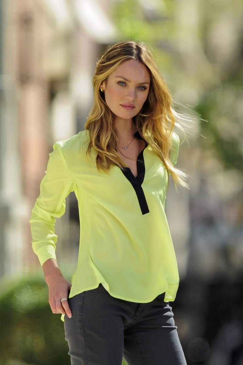 Candice Swanepoel Poses for Victoria's Secret in NYC 32874