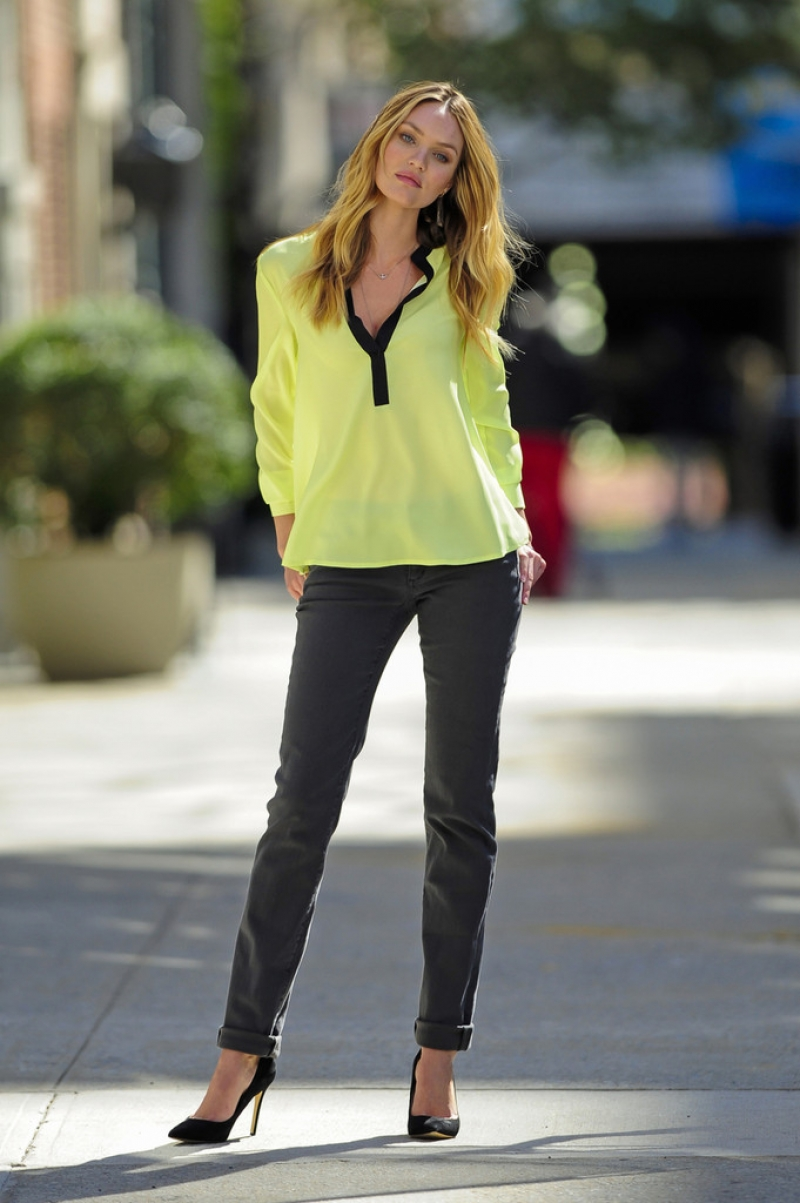 Candice Swanepoel Poses for Victoria's Secret in NYC 32899