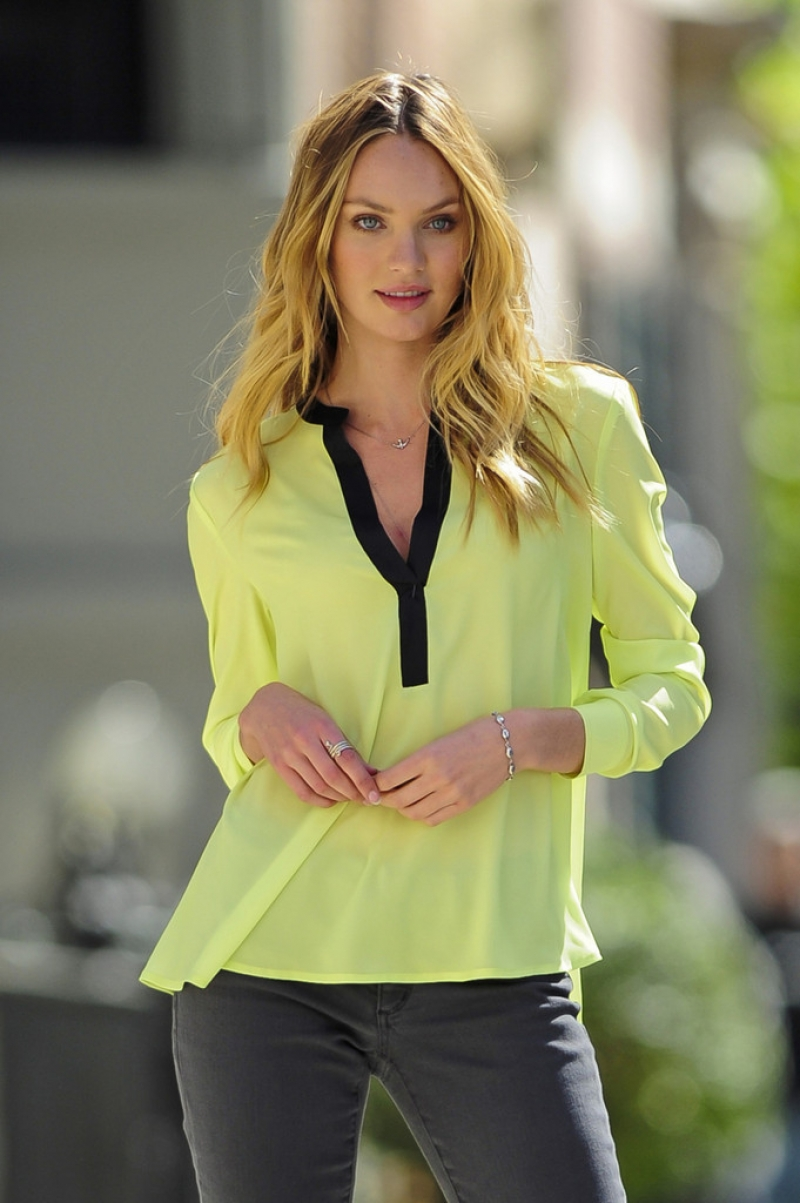 Candice Swanepoel Poses for Victoria's Secret in NYC 32953