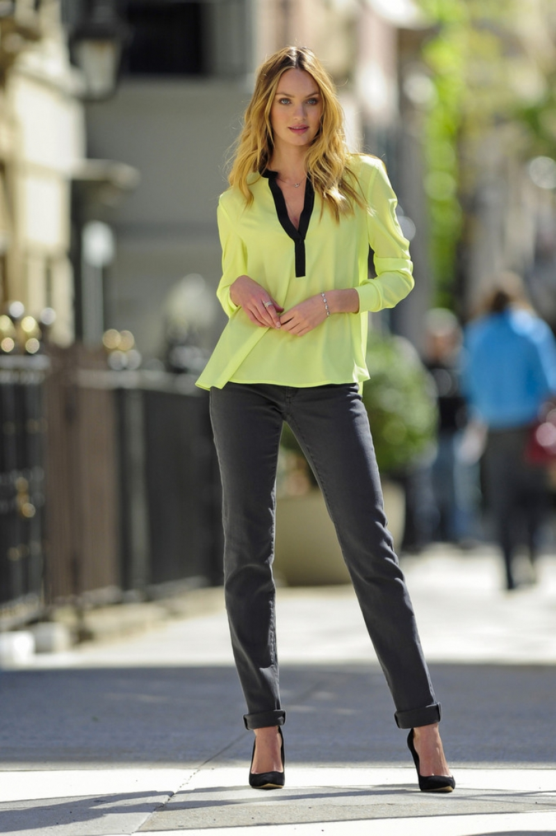 Candice Swanepoel Poses for Victoria's Secret in NYC 32959