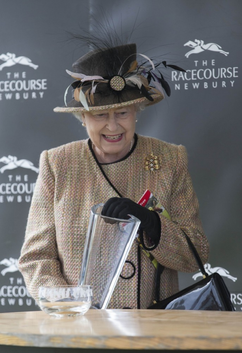 Queen Elizabeth II Wins Big at the Newbury Races 33649