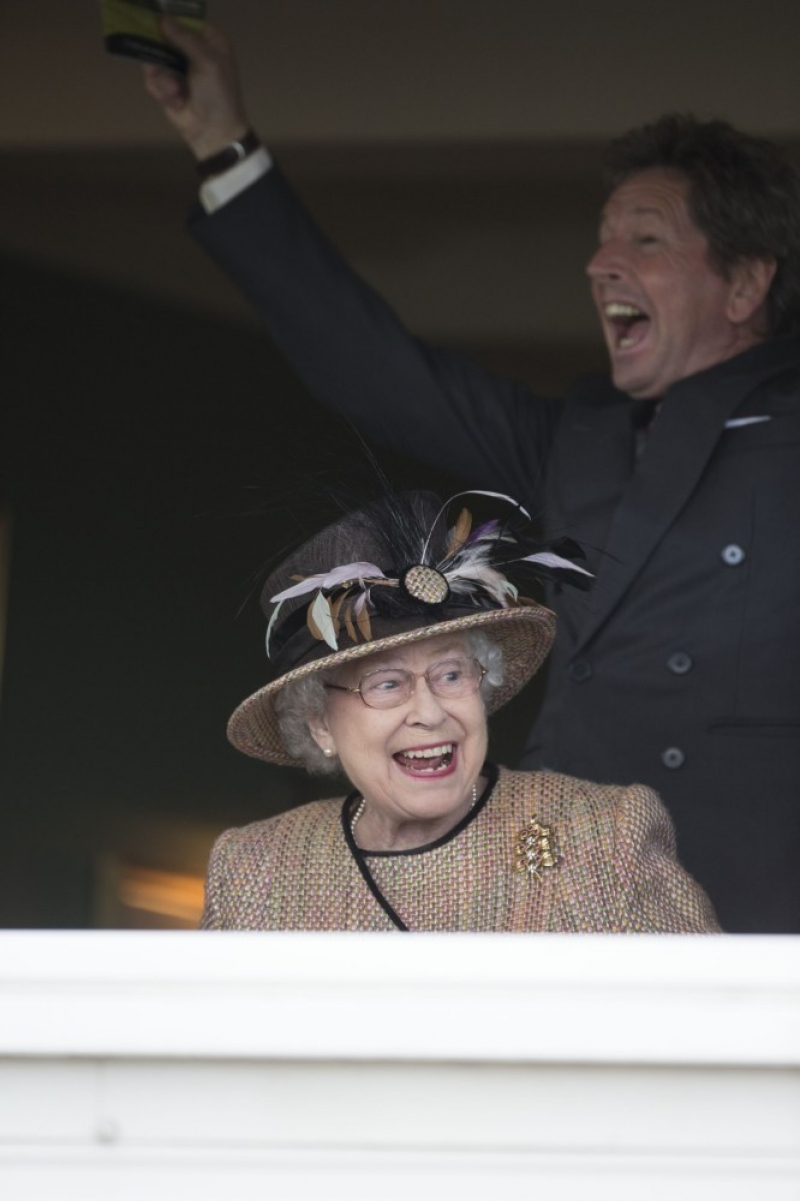 Queen Elizabeth II Wins Big at the Newbury Races 33721