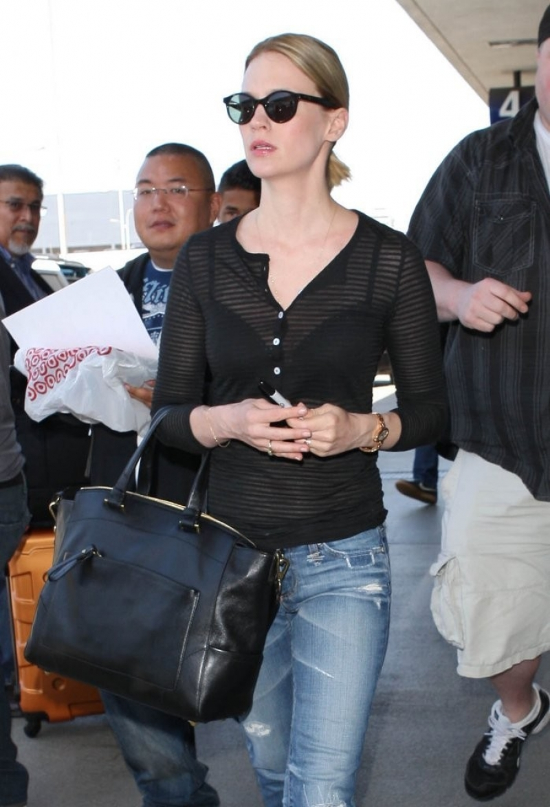 January Jones Arrives in LA 34105