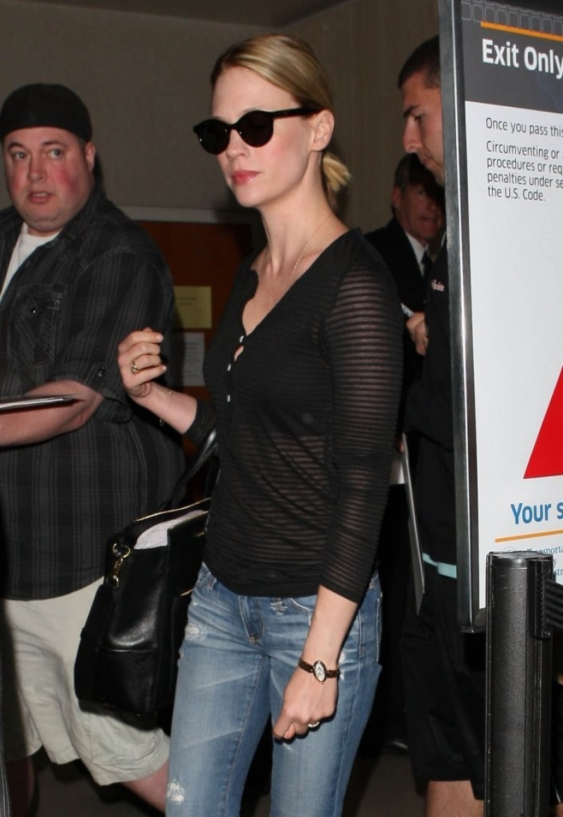 January Jones Arrives in LA 34116