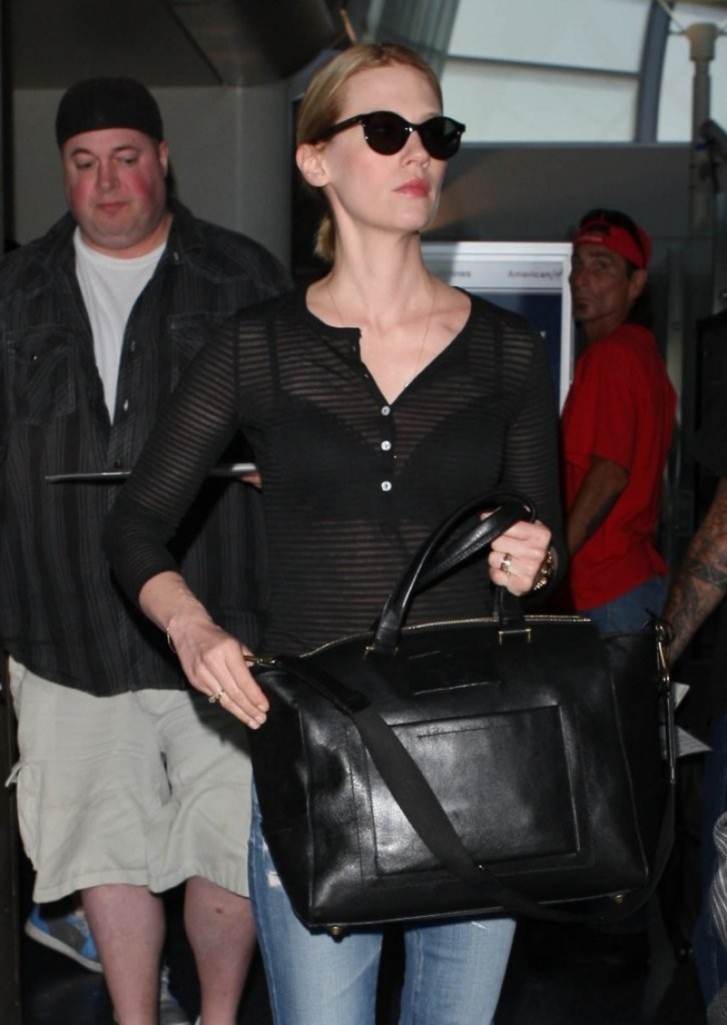 January Jones Arrives in LA 34129