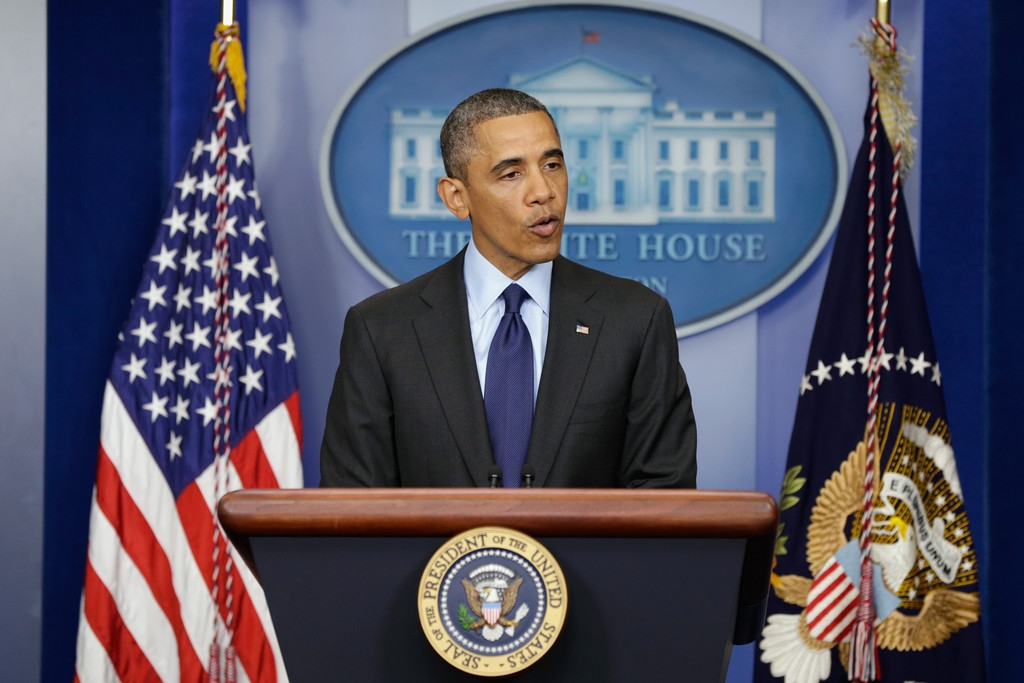 President Obama Delivers Remarks On Capture Of Alleged Boston Marathon Bomber 34506