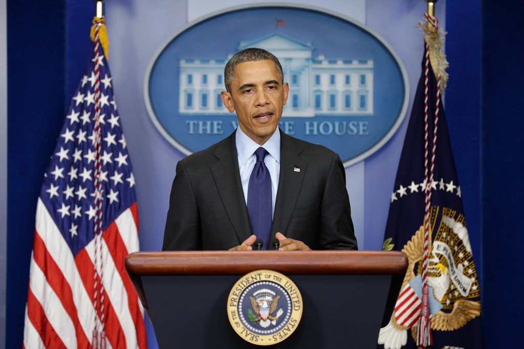 President Obama Delivers Remarks On Capture Of Alleged Boston Marathon Bomber 34523