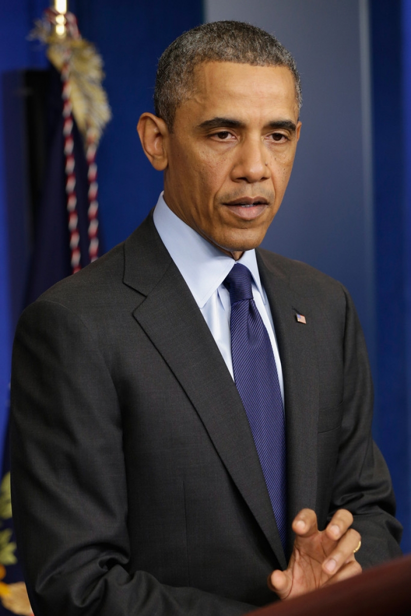 President Obama Delivers Remarks On Capture Of Alleged Boston Marathon Bomber 34532