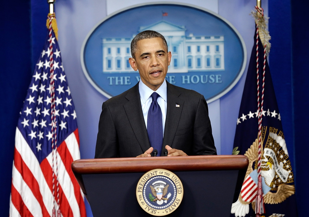 President Obama Delivers Remarks On Capture Of Alleged Boston Marathon Bomber 34545