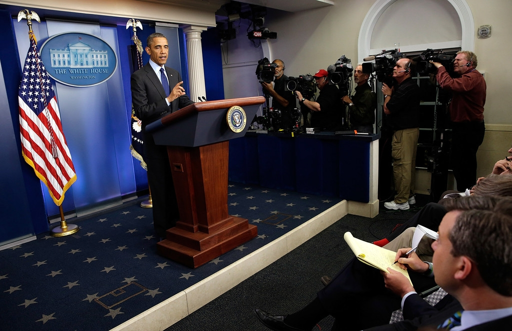 President Obama Delivers Remarks On Capture Of Alleged Boston Marathon Bomber 34570