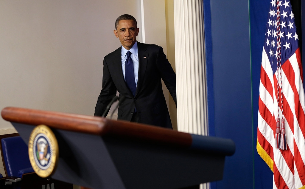 President Obama Delivers Remarks On Capture Of Alleged Boston Marathon Bomber 34577