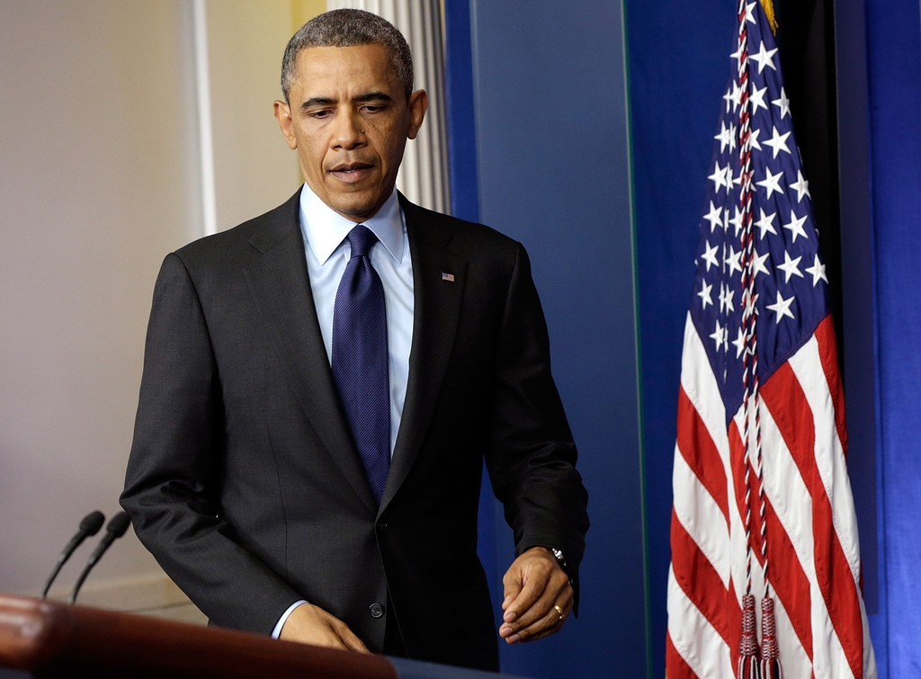 President Obama Delivers Remarks On Capture Of Alleged Boston Marathon Bomber 34596