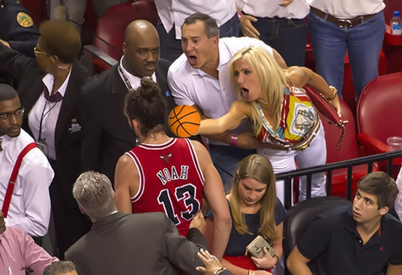Filomena Tobias, the Heat fans who were angry finger Joakim Noah, has a crazy plot 34884