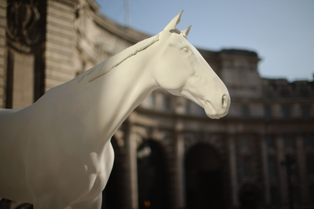 The British Council Unveils Artist Mark Wallinger's The White Horse Sculpture... 35090