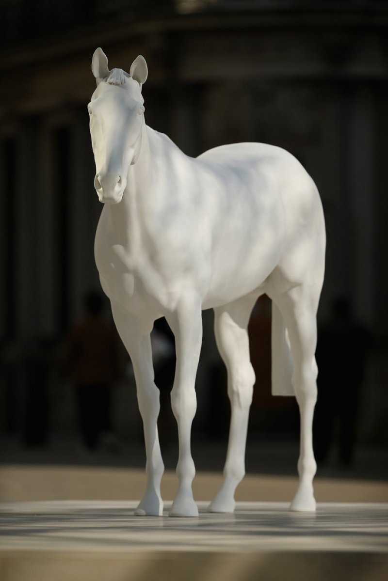 The British Council Unveils Artist Mark Wallinger's The White Horse Sculpture... 35166