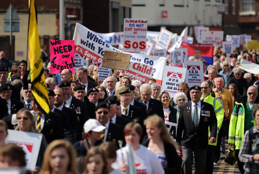 Thousands Of Demonstrators March Through Stafford To Save Stafford Hospital F... 35342